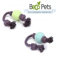 beco ball on a rope dog toy
