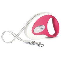 FLEXIπτυσσόμενος οδηγός σκύλου ροζ M 5m