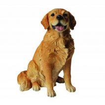 Άγαλμα Σκύλου Golden Retriever Sitting