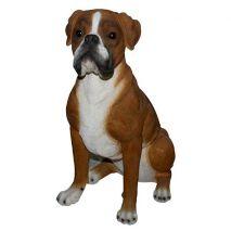 Άγαλμα Σκύλου Boxer Sitting