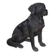 Άγαλμα Σκύλου Labrador Black Sitting