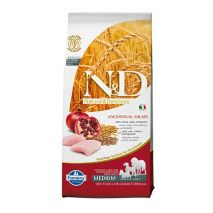 n&d low grain chicken & pomegranate adult medium 12kg