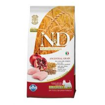 n&d low grain chicken & pomegranate adult mini 800gr