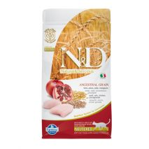 n&d low grain chicken & pomegranate neutered cat 300gr
