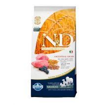 n&d low grain lamb & blueberry adult medium 12kg