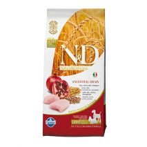 n&d low grain chicken & pomegranate light 12kg