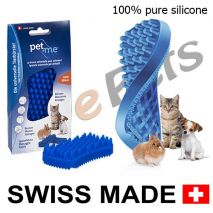 pet and me silicone brush blue