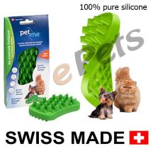 pet and me silicone brush green epets