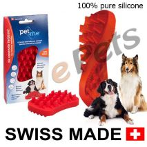pet and me silicone brush red epets