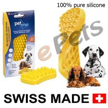pet and me silicone brush yellow epets