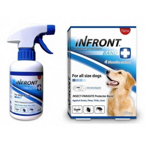 INFRONT Αντιπαρασιτικό Περιλαίμιο Σκύλου & Spray 375ml