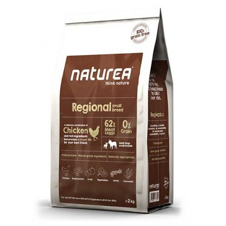 naturea adult regional small breed chicken 2kg epets