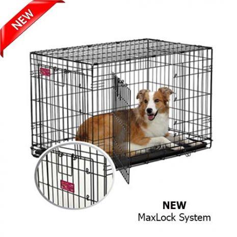 midwest crate 2 doors 91x58x64 petshop